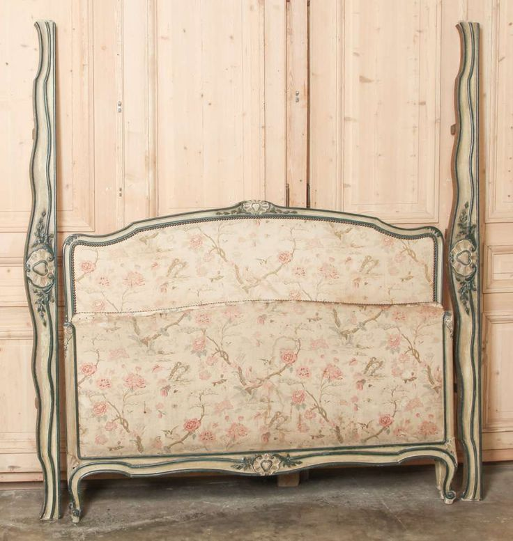 Lovely Antique French Louis XV Painted QUEEN Bed