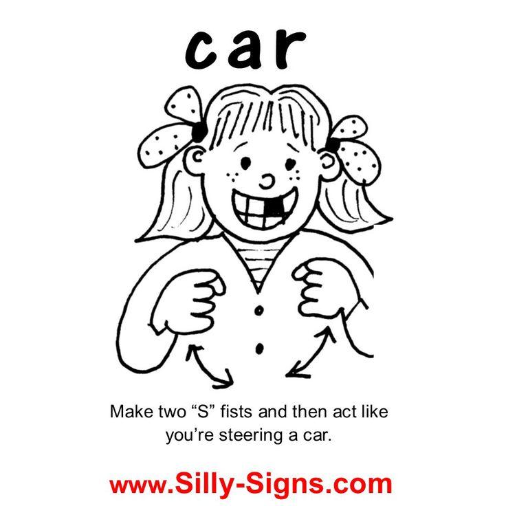 Best Sign Language Images On Pinterest - Car sign language