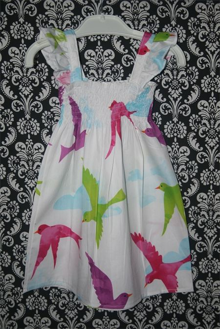 Doves White Shirred Dress Size 3 - 6 Months