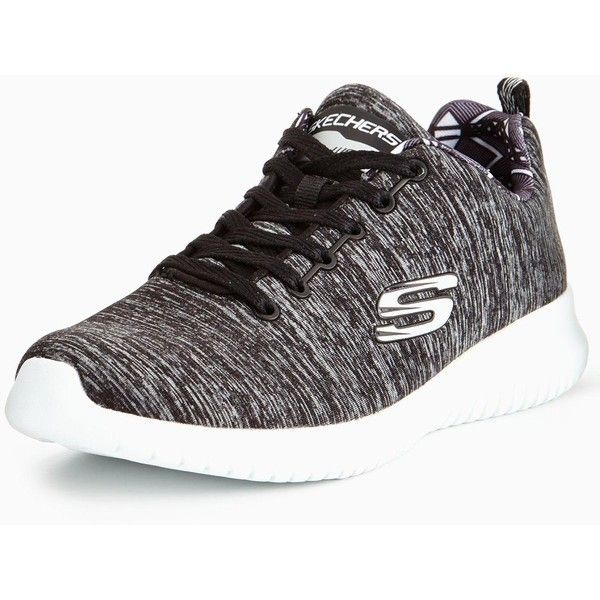 Skechers Ultra Flex First Choice Lace Up Trainer ($57) ❤ liked on Polyvore featuring shoes, sneakers, skechers sneakers, laced up shoes, lightweight sneakers, breathable shoes and lacing sneakers
