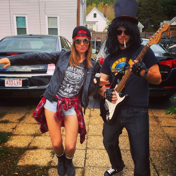 Guns N' Roses Axl Rose and Slash Halloween Disfraces