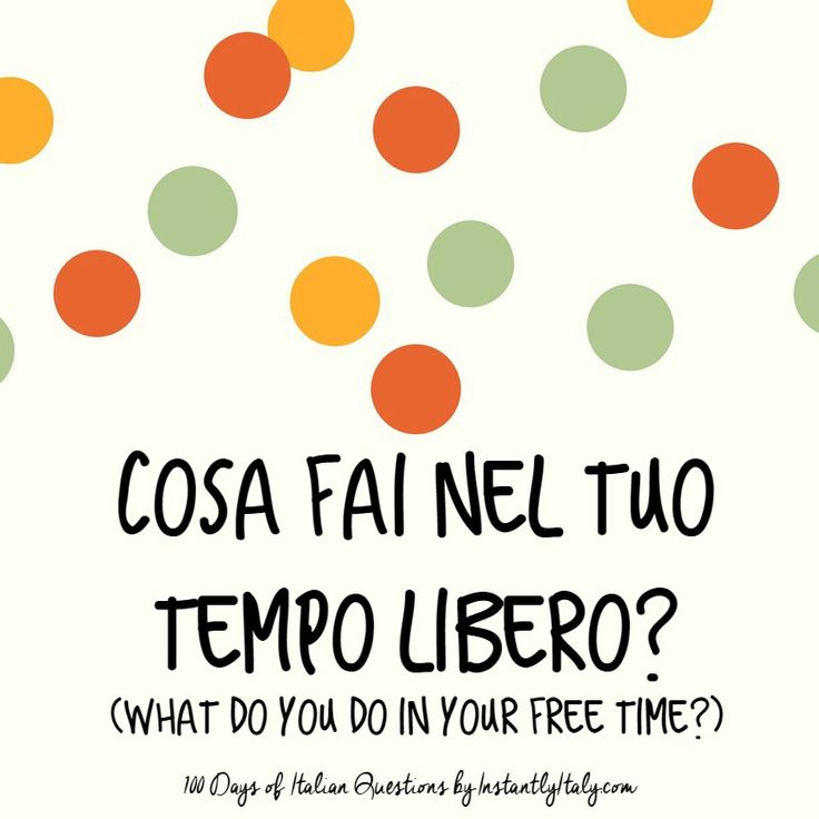 19/100 - 100 Days of Italian Questions on Instagram