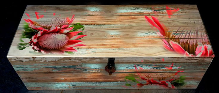 plain wood, painted or any graphic can be applied to the trunks - R2600  -  size = 70cm x 45cm x 42cm or R3500 - size = 1.35m x 45cm x 53cm