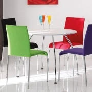 Round Dining Table with 4 Tone Chairs