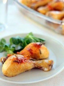 Курица, запеченная с мармеладом и корицей - кулинарный рецепт