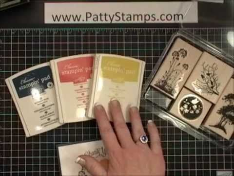 Stampin Up Serene Silhouettes card tutorial w/Patty Bennett