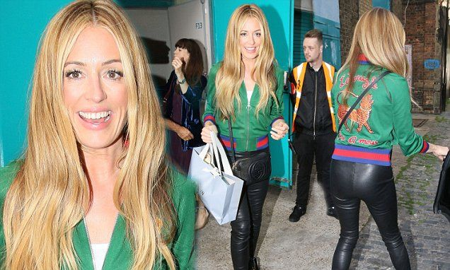 Cat Deeley dazzles in tight leather trousers | Daily Mail Online