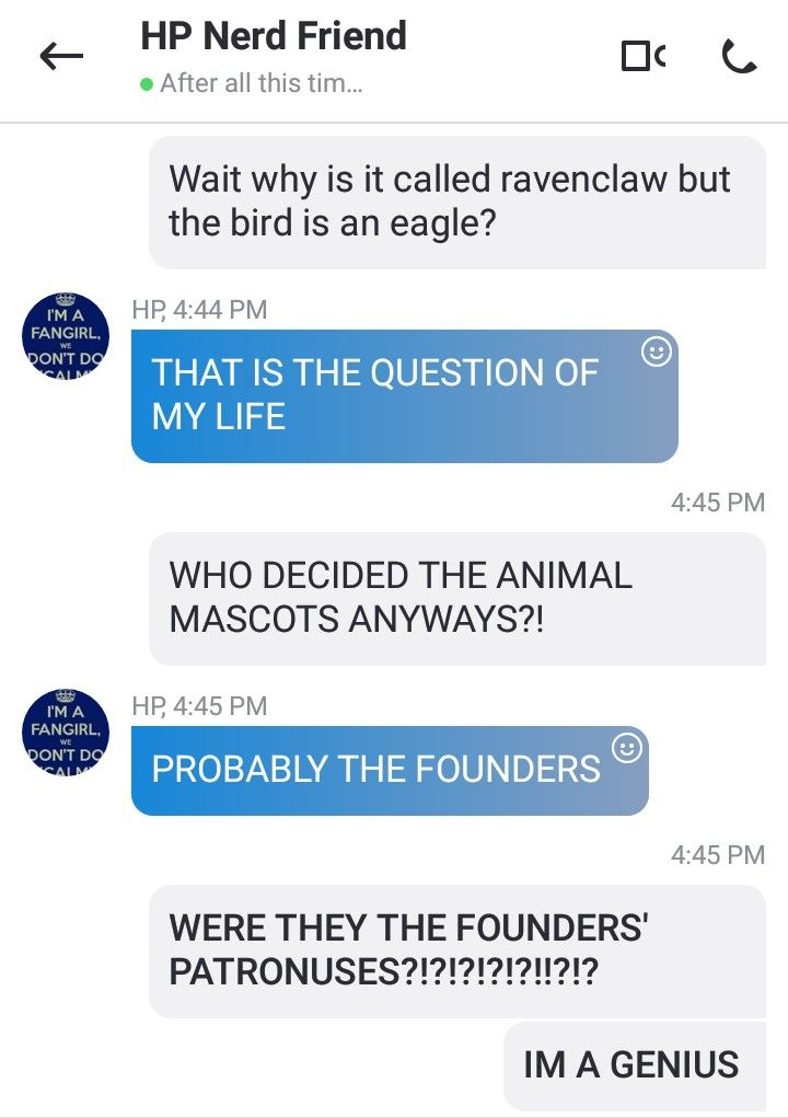 What started as a simple text conversation ended as a glorious revalation...<<< no she chosed it based on were she came form tie an eagle on the flag... so there you have it. Sores: super Carlen brothers