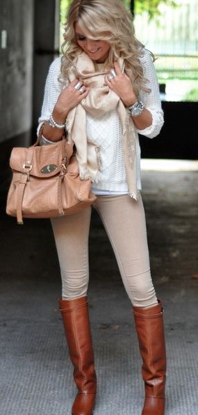Winter Fashion / white knit + cream. Love the neutral colors for this season! Fashion for the Modern Mom