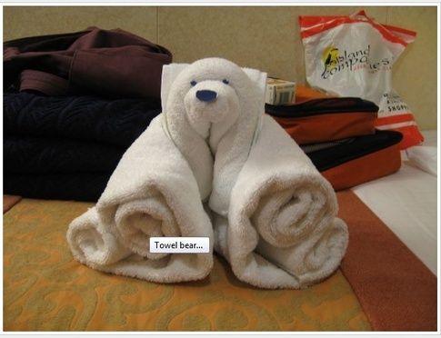 Towels Animals - Zwierzęta z ręczników - Origami z ręczników - Polar Bear