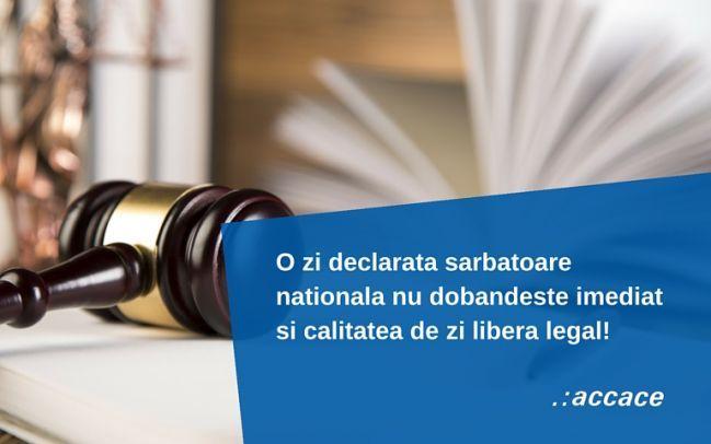 24 Ianuarie si 19 Februarie, sarbatori nationale nu zile libere legale