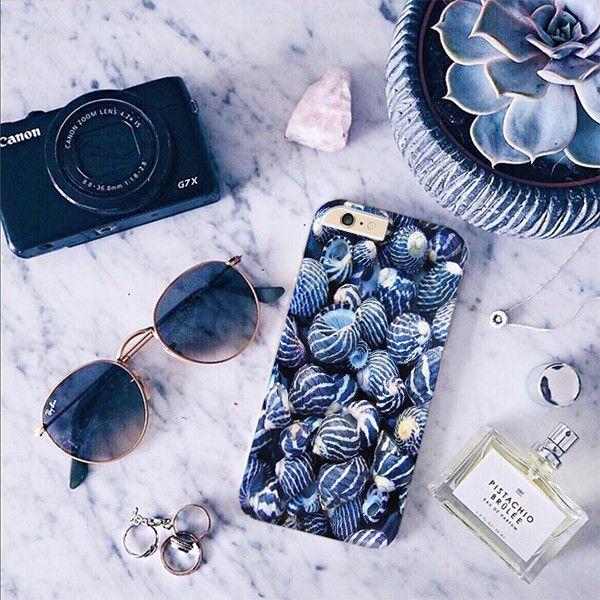 Blue Sea Shells cover for iPhone Samsung HTC - Solomiia-Ivanytsia - Etui na…