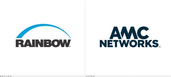AMC Networks Logo, Before and After