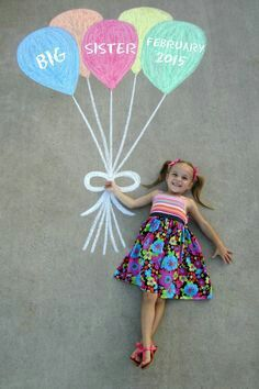 Cute big sister photo idea!                                                                                                                                                      More