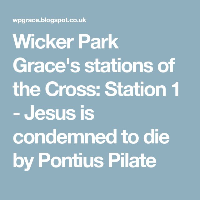 Wicker Park Grace's stations of the Cross: Station 1 - Jesus is condemned to die by Pontius Pilate