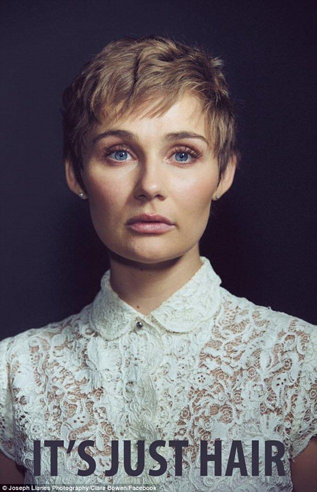 Making a statement: Clare Bowen, who stars as Scarlett O'Connor on ABC's Nashville, revealed that she chopped off all of her long, blonde hair