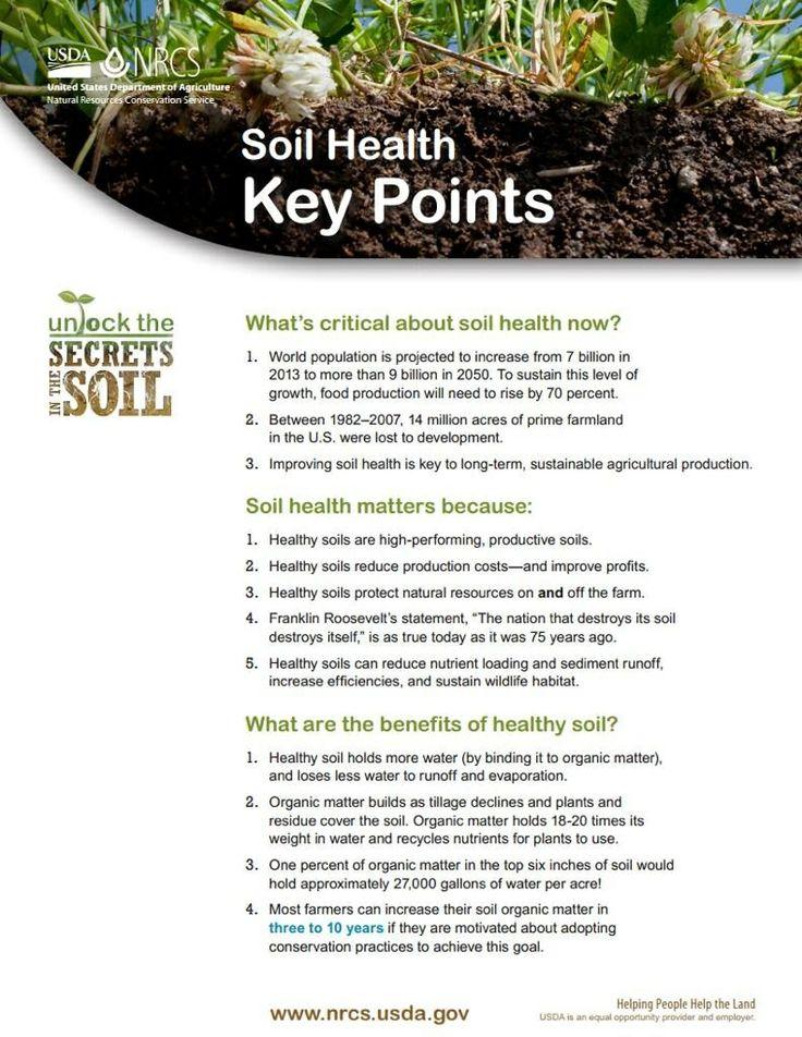 Secrets In The Soil : Key Points In Soil Health. Ag SciencePlant ...