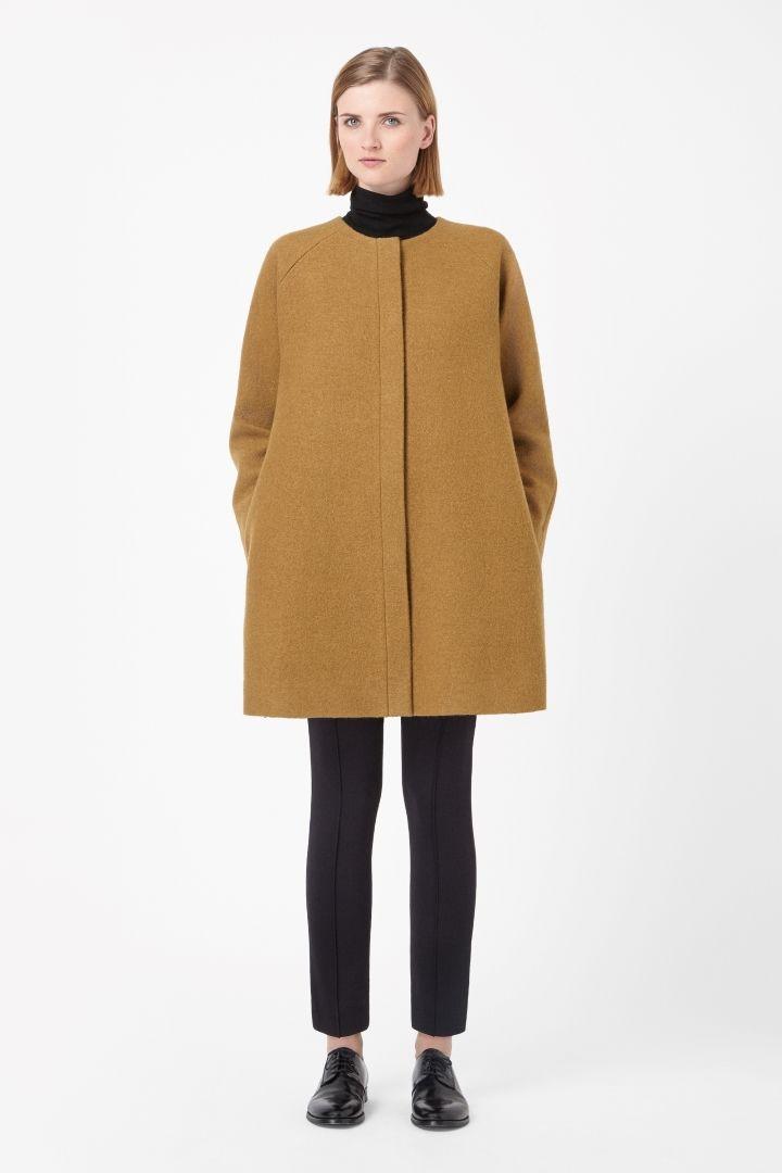 COS   A-line wool coat