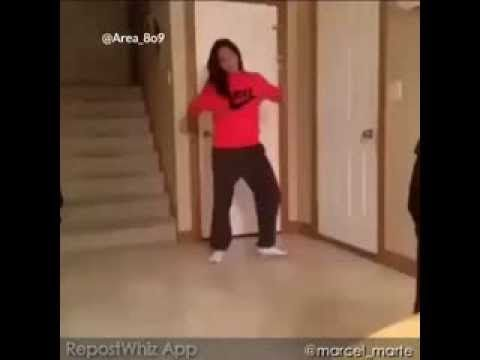 Girl Dancing Fail Hit in head by door. Exactly how that baby feels. Everytime I watch it.