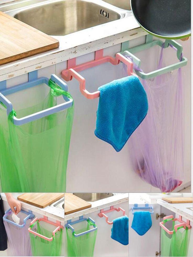 Visit To Buy Garbage Bag Holder Hanging Kitchen Cupboard Storage Holders Racks Tailgate Stand