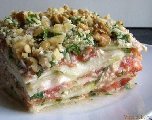 Сыроедческая лазанья / Вегетарианские и сыроедческие рецепты / Овощные рецепты