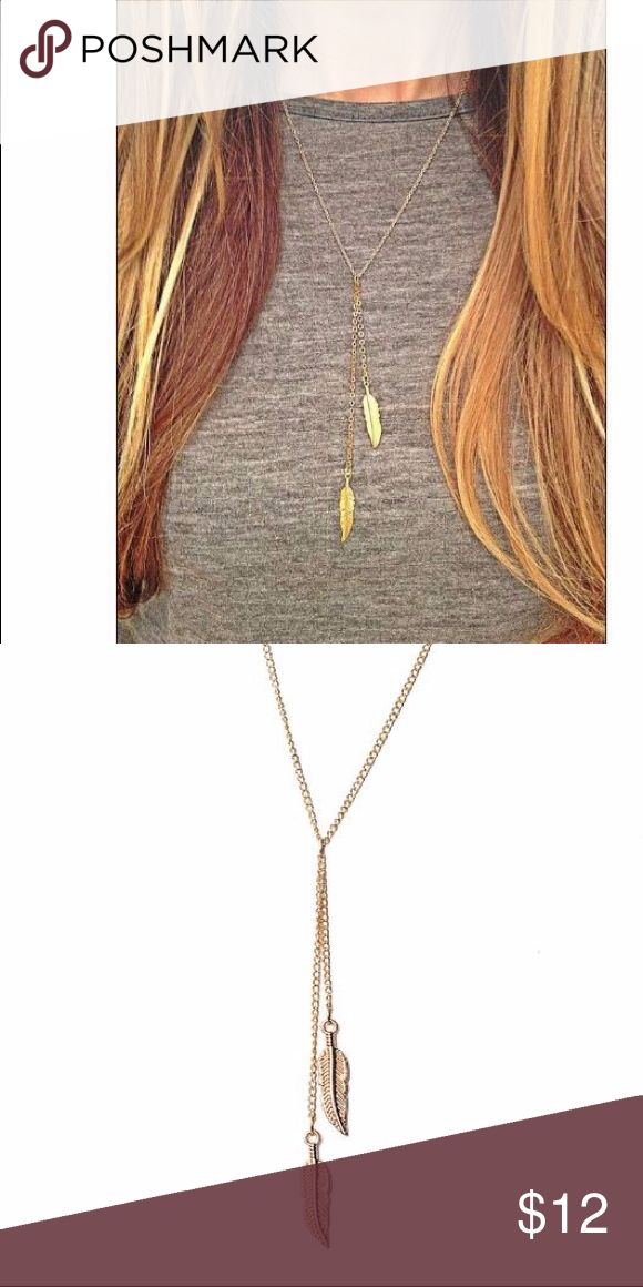 "🍁🍂Trendy & Elegant Fall Leaf Necklace🍁🍂 Trendy, dainty and elegant 18K gold plated Leaf Necklace! Adds the perfect fall touch to your modern outfit! Length about 18.5"", Pendant size about 1"" each leaf Jewelry Necklaces"