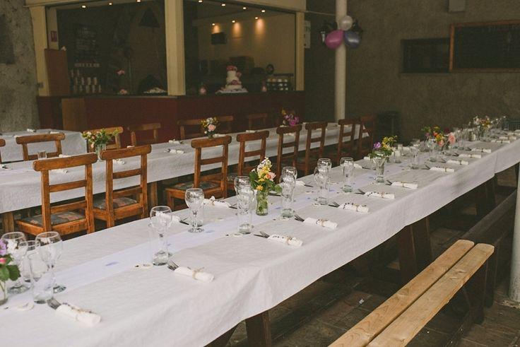 Wedding in Westport table set