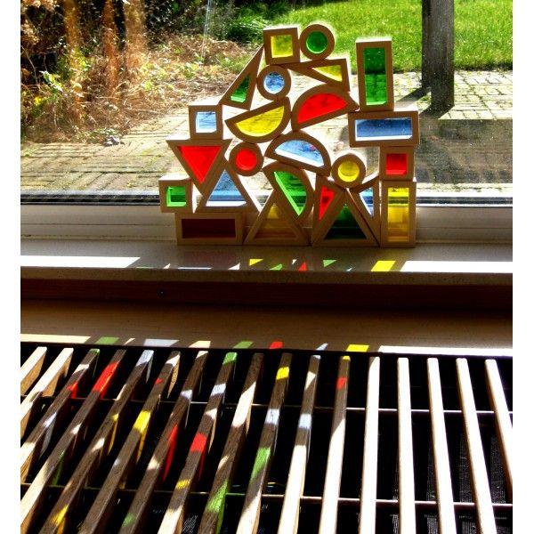 Regenboog blokken - Houtspel.nl   Duurzaam houten speelgoed