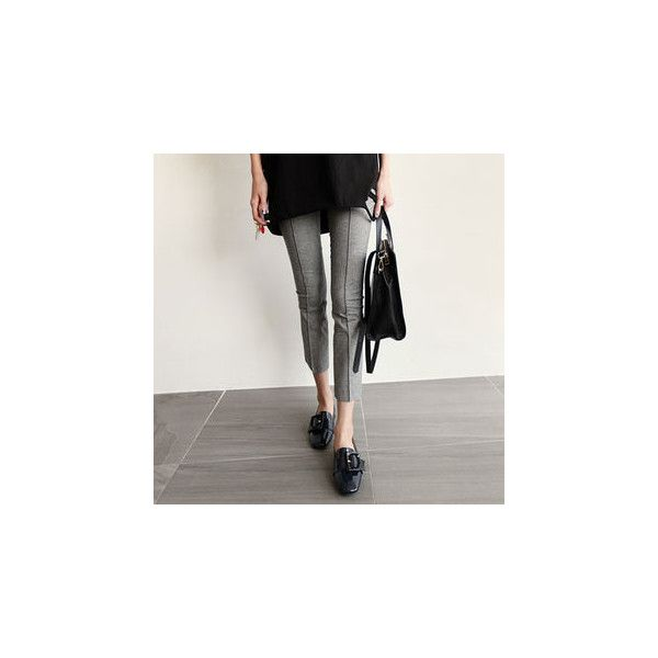 Slim-Fit Check Dress Pants ($38) ❤ liked on Polyvore featuring pants, women, dress trousers, slim fit suit pants, slim fitted pants, slim fit dress pants and dress pants