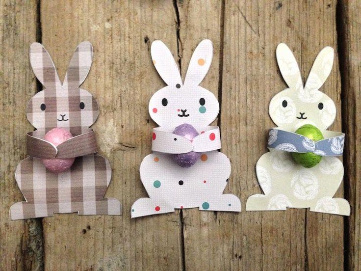 """Coniglietti pasquali stampabili """"Candy Huggers"""" (ovvero gli abbraccia-ovetti)"""