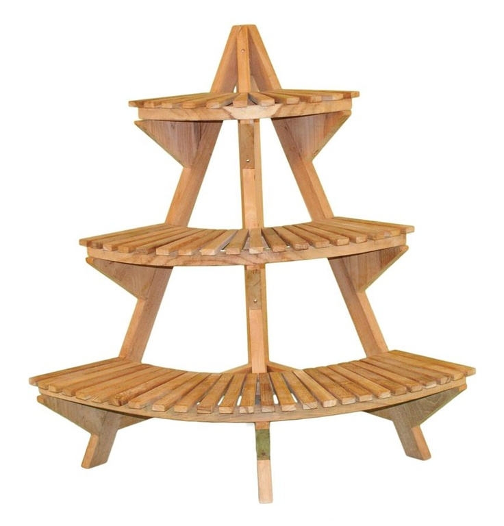 Foyer Plant Stand : Plant stand corner unit in teak home kitchen entryway