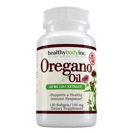 Oregano Oil 10:1 Extra Strength (120 ct. 150 mg.), Wildcrafted Mediterranean Oregano, For Healthy Immune Response, By Healthy Body