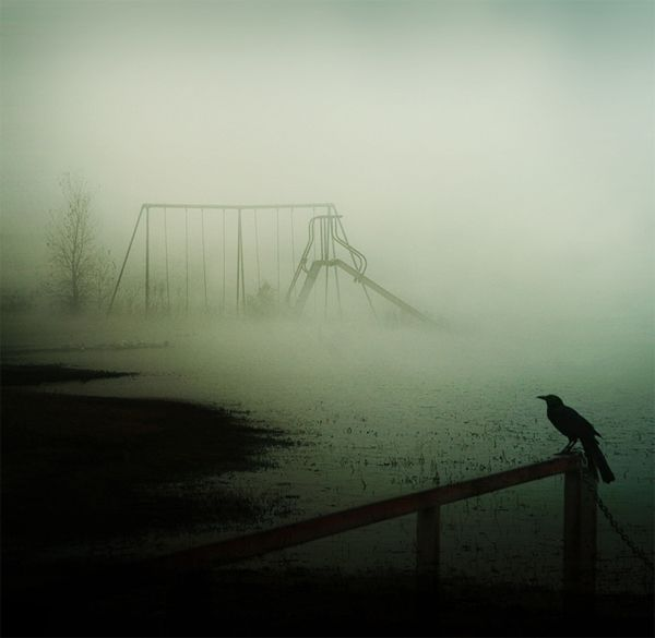 There's something simultaneously creepy and inviting about a playground with no kids on it.