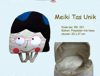Backpack Unik cantik -RK. 001    Backpack Pink Cheeks yang murah senyum, dengan bahan polyester (bag luar & nylon kaku (bag dalam). sehingga backpack menjadi kokoh dan kuat, serta lucu.    *Untuk order atau info, sms: 0812 9850 8811/0858 8537 8811 add pin 315BE3EC  *Ada tambahan Disc menarik untuk pembeli Reseller.