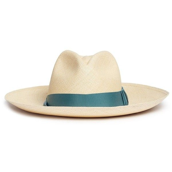 Sensi Studio Origami bow wide brim Panama hat ($225) ❤ liked on Polyvore featuring accessories, hats, neutral, sensi studio hats, wide brim panama hat, sensi studio, origami hat and wide brim hat