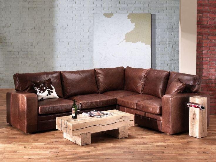 Best Vintage Square Leather Corner Sofa We Bought It 400 x 300