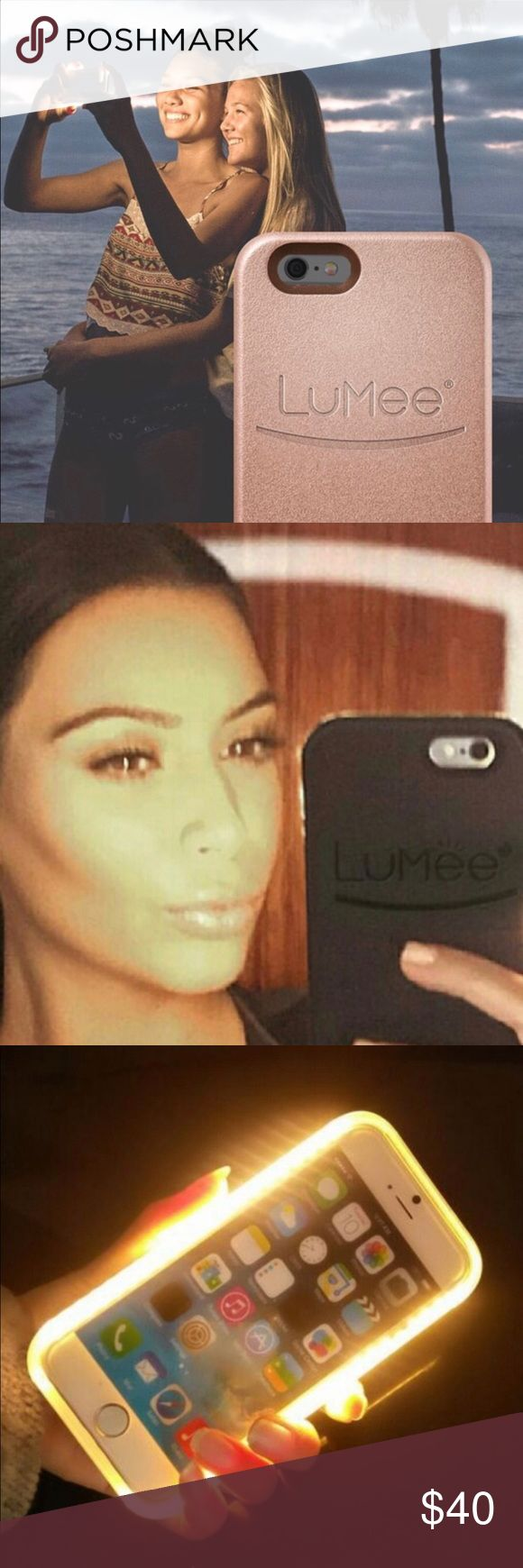 NWT PINK Lumee selfie case NWT Lumee selfie case for iPhone 6/6s PLUS. Color for this case is PINK. Charger included. Perfect your selfies with the case that all the Kardashians use!! NO TRADES. PRICE IS FIRM. On hand and ready to ship! PINK Victoria's Secret Accessories Phone Cases