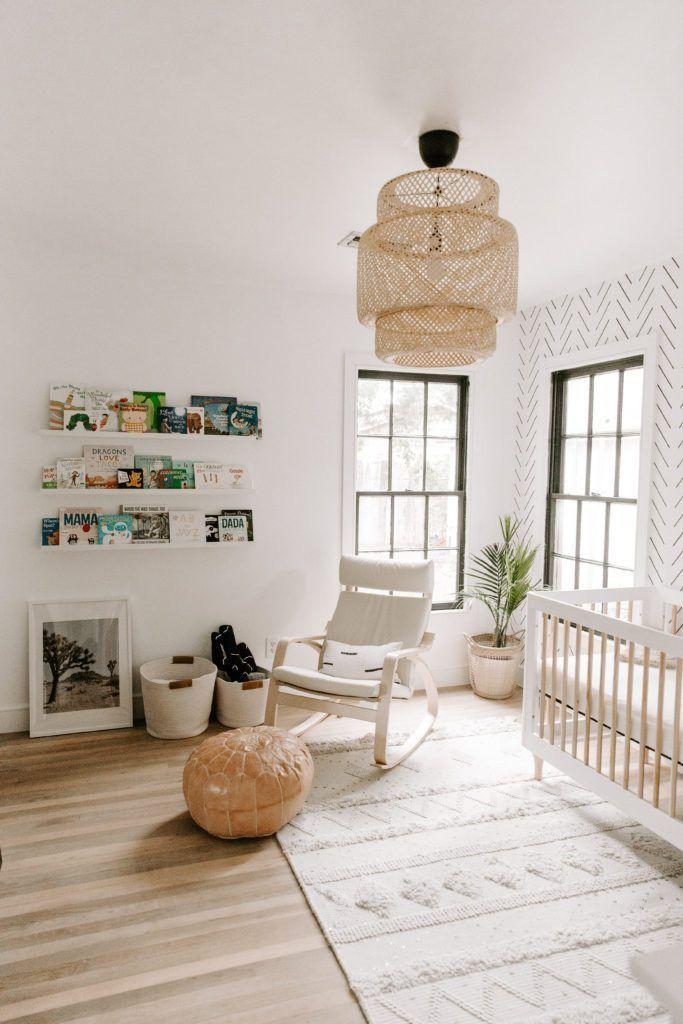 Home Interior Design Minimal Boho Nursery Interior With Moroccan