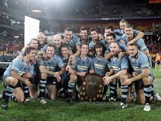 NSW Blues State of Origin 2005. I rode on a plane with these beauties!! :-D