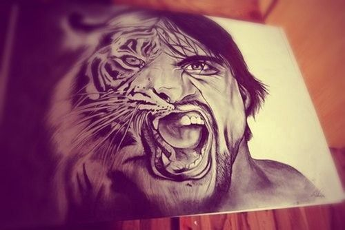 Tattoo drawing tiger men tattoo pinterest a tiger for Tattoo sketches for men