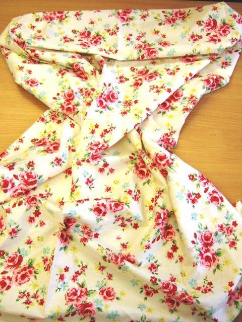 Cream chintz fabric