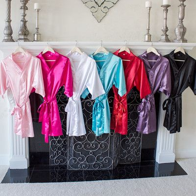 Beautifully constructed and available in all of today's most sought after colors, these personalized bridesmaid robes make the perfect gift. Custom made to order and universal in appeal, the silky smo