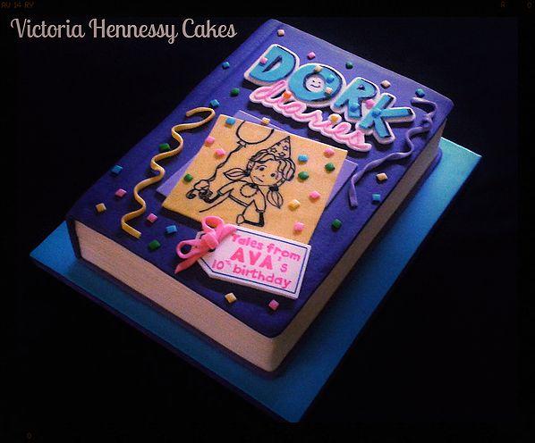 Dork Diaries Book Cake