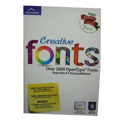 Summitsoft® Creative Fonts Software, Single User, Windows, CD (8063354) | Staples