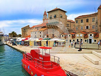 A shot of the entrance to the old town of Trogir in Croatia. The area of Trogir has been settled since the days of the Roman empire and the city itself still has most of its original structures, some dating back to the early 13th century.