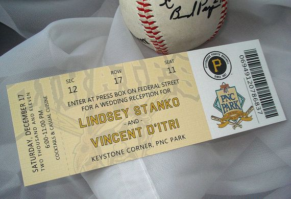 At The 'Ole Ballgame MLB ticket Wedding by envymarketing on Etsy, $7.00
