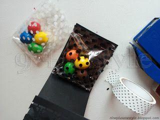Scatoline segnaposto fai-da-te per una festa a pois - Polka-dots party favors