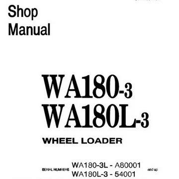 Komatsu WA180-3, WA180L-3 Wheel Loader Shop Manual