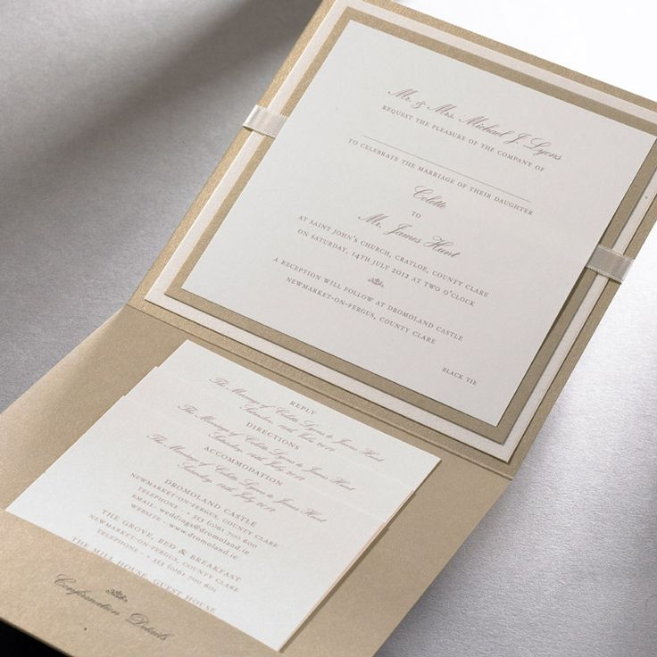 Wedding Invitations Ireland :: Finer Details :: Classic Wedding Invitation Collection :: Alice pocket fold invitation