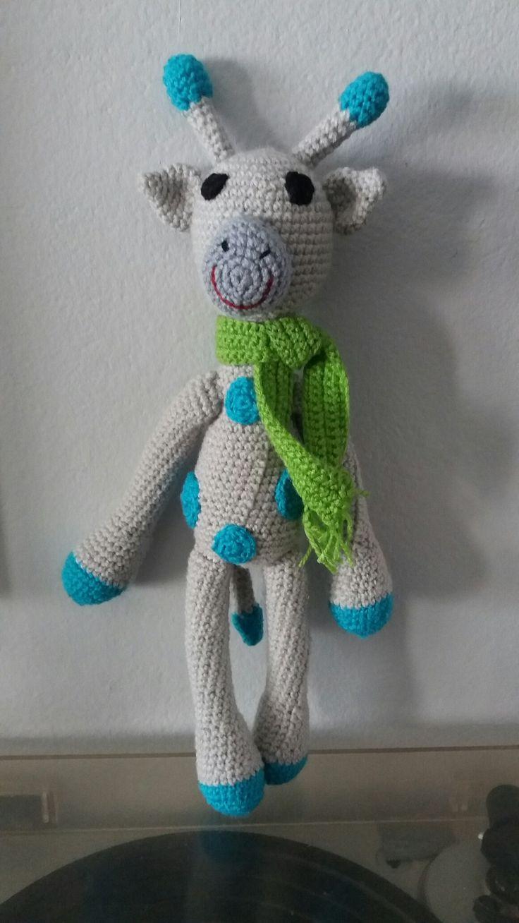 Jirafa amigurumi, técnica crochet #jirafa #amigurumi #crochet #ganchillo #tejido